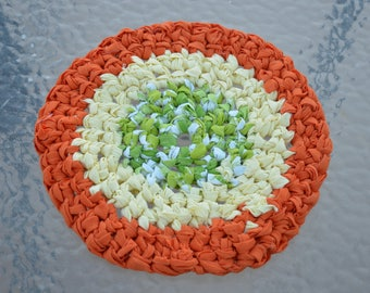 Hand Crocheted Cotton Blend Rag Trivet