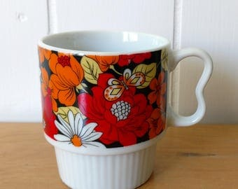 vintage floral mug Japan