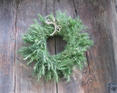Dried ROSEMARY WREATH    dried herb decoration