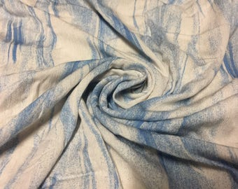 Rayon Crinkle Tie Dye Design Fabric  2-3/4 Yards