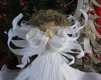 Praying Christmas Angel Tree Topper
