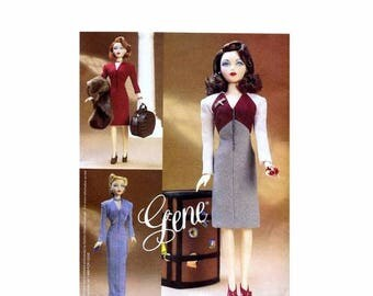 SALE Gene Doll Day or Evening Wear Doll Clothes Vogue 7327 Sewing Pattern Uncut