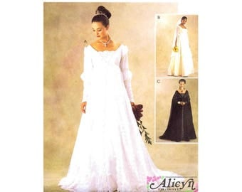 Alicyn Renaissance Bridal Gown and Bridesmaid Dress McCalls 3053 Sewing Pattern Size 12 - 14 - 16 Bust 34 - 36 - 38 UNCUT