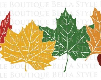 Fall Leaves svg cut file