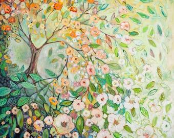 """Modern Tree Art - """"Enchanted"""" - Fine Art Print by Jenlo"""