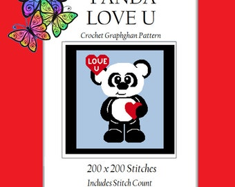 Panda Love U - Crochet Graphghan Pattern