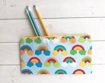 Rainbow Zipper Pouch /Rainbow Pencil Case /Pencil Pouch /School Supplies /Gift For Her/ Back To School /Organizer Bag /
