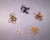 RESERVED for Tanya ONLY - 15 Pairs of French Hook Ear Wires, Jewelry Supplies, FREE Shipping U.S.