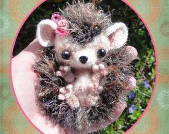 Baby HedgeHog Crochet Pattern in Digital PDF Format Ornament Decor Doll Toy in my Milk Cap Cutie Collection
