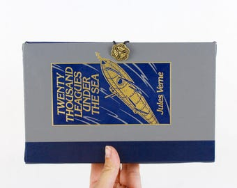 20K Leagues Under the Sea Book Clutch Purse - made from recycled vintage book by Rebound Designs