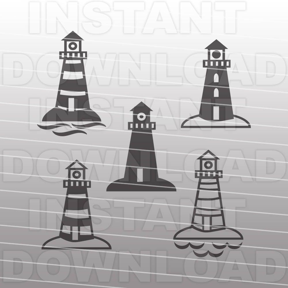 lighthouse svg file boating svg file beach svg commercial