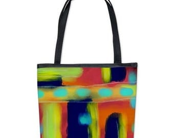 Original Abstract Art Handbag Purse Shoulder Bag My Funky Abstract Digital Painting