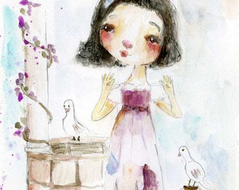 Snow White  - art print by Mindy Lacefield