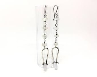 Moonstone earrings dangle earrings drop earrings