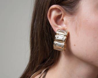 chain link earrings / statement earrings / watch link earrings / 1096a
