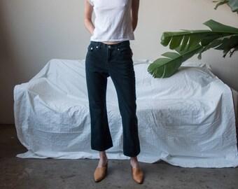 RALPH LAUREN cropped jeans / straight leg jeans / US 2 / 27 W / 3141t / B9