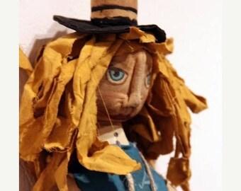 CustomerAppreciationSale Primitive Alice in Wonderland Doll reserved for coreyash1950 with pleasure