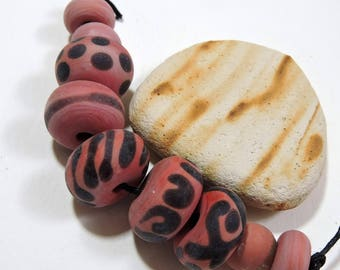 Lampwork Beads RED HOTS Two Sisters Designs 061717A