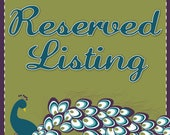 RESERVED Listing for Arubiana425