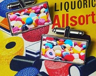 Liquorice Allsorts Chrome Cufflinks