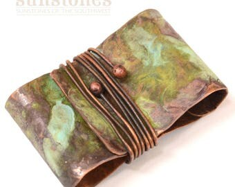 Hand Forged Rustic Copper Bail - DIY jewelry making components F0918
