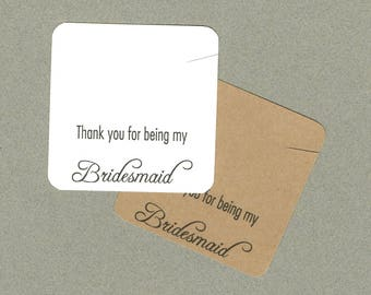 Jewelry Card, Bridesmaid Necklace Cards, Set of 30, Wedding Favor, Thank You Card, Jewelry Supply, Necklace Card