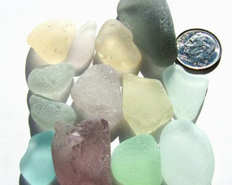 Spring Colors Bulk Sea Glass, 15-Piece Lot