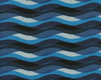 Cotton + Steel Poolside - waves - blue - 50cm - PRE-ORDER