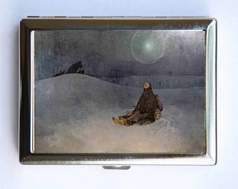 Mucha Woman in the Wilderness Cigarette Case id case Wallet Business Card Holder