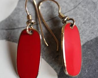 VINTAGE Laurel Burch RED dangle earrings
