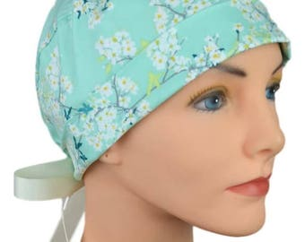 Scrub Hats // Scrub Caps // Scrub Hats for Women // The Hat Cottage // The Mini // Ribbon Ties // Cotton Blossom