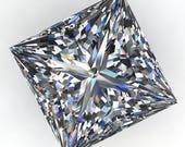 Private listing for Kyle - NEO moissanite - 1.3 carat princess cut NEO moissanite, colorless moissanite, square moissanite