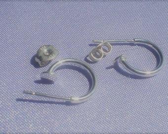 925 sterling silver ear wire hoop 12 mm/ONE set