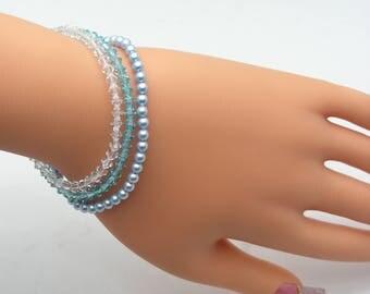 Swarovski bracelet; Beaded bracelet; Friendship bracelet;Crystal bracelet - Sold individually
