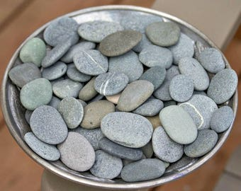 Alaska River rocks bulk - Vase filler - River stone - Wedding stones- Blessing stones - Pebble art - Painting stones - Stone art - 25 Small