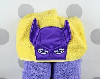 Kid's Hooded Towel - Batgirl Hooded Towel – Batgirl Towel for Bath, Beach, or Swimming Pool