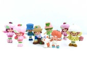 8 Vintage Strawberry Shortcake Miniature Figures. 1980s Toy Lot. 80s Strawberryland Minis. PVC.