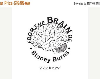 Xmas in July From the Brain of Custom Rubber Stamp Anatomical Human Brain AD139