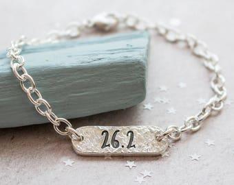 Marathon Identity Bracelet - Marathon Running Jewellery, Bracelet for marathon Runner, Running Gift, Gift for Runner, Identity Bracelet
