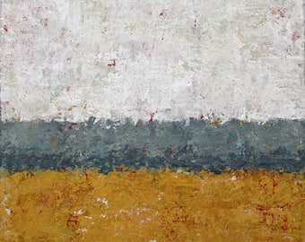 """Original Abstract Landscape Painting -- Driving By VI  -- 6 x 6"""""""