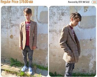 ON SALE Vintage 1970/1980 chic wool men jacket size S/M