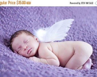 SUMMER SALE 20% OFF Infant Feather Angel Wings - newborn to 12 months - Perfect for Photo Props and Shower Gifts - Wings Only - Ready To Shi