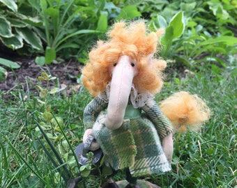 Maude, A Fair Villager, OOAK, collector doll, faerie
