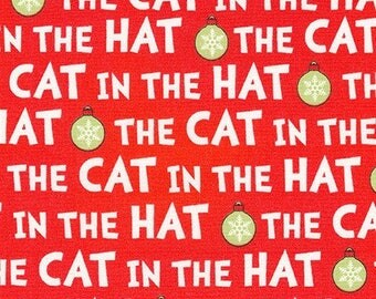 Dr. Seuss's The Cat In The Hat Christmas, The Cat in the Hat words on Red, yard