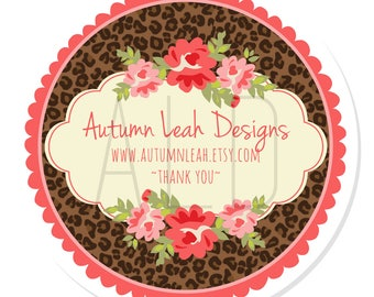 Personalized Stickers -- Leopard Print Address Labels -- Personalized Address Labels, Address Labels, Shower, Thank You, Favors