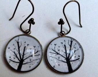 The tree to BO044 hearts earrings