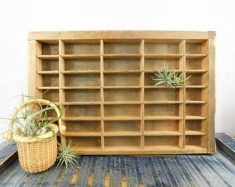 Wood Display Shelf - Wall Display - Miniatures Display Shelf - Collection Display - Wood Printer Tray - Shadow Box - Display Case - Vintage