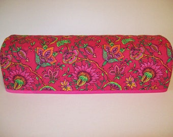 Cricut Dust Cover / Scan-n-Cut Cover / Cricut Machine Cutter Protector / Machine Quilted / Bright Pink Floral