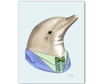 Dolphin print 8x10