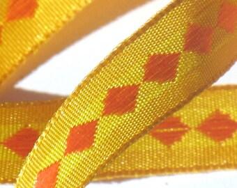 Sunset Orange - May Arts Woven Ribbon